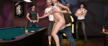 pool game turns into gangbang