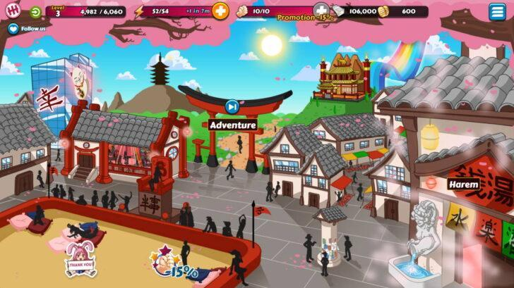 this map shows the main game activities